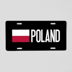 Poland: Polish Flag & Polan Aluminum License Plate