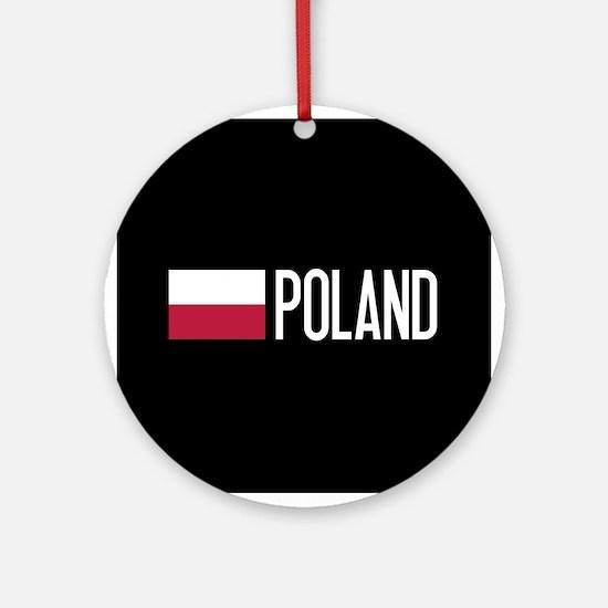 Poland: Polish Flag & Poland Round Ornament
