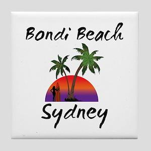 Bondi Beach Sydney Australia. Tile Coaster