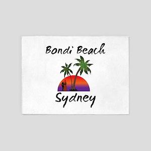 Bondi Beach Sydney Australia. 5'x7'Area Rug