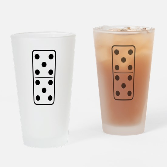 Domino Double Five Drinking Glass