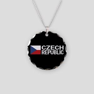 Czech Republic: Czech Flag & Necklace Circle Charm