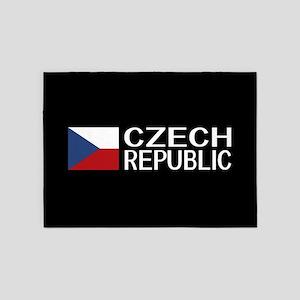 Czech Republic: Czech Flag & Czech 5'x7'Area Rug
