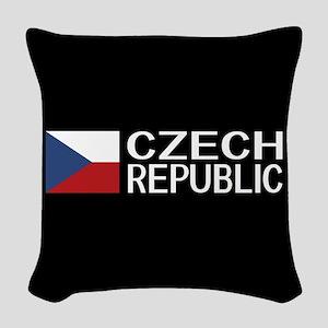 Czech Republic: Czech Flag & C Woven Throw Pillow
