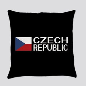 Czech Republic: Czech Flag & Czech Everyday Pillow