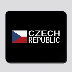Czech Republic: Czech Flag & Czech Repub Mousepad