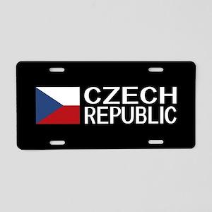Czech Republic: Czech Flag Aluminum License Plate