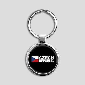 Czech Republic: Czech Flag & Czech Round Keychain