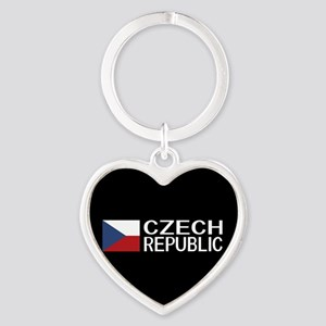 Czech Republic: Czech Flag & Czech Heart Keychain