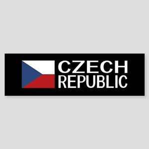 Czech Republic: Czech Flag & Czec Sticker (Bumper)