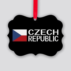 Czech Republic: Czech Flag & Czec Picture Ornament