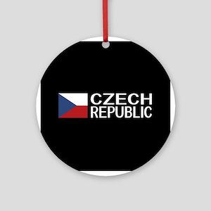 Czech Republic: Czech Flag & Czech Round Ornament