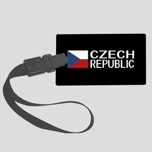 Czech Republic: Czech Flag & Cze Large Luggage Tag