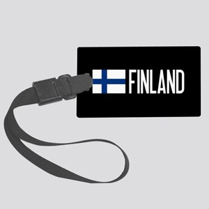 Finland: Finnish Flag & Finland Large Luggage Tag