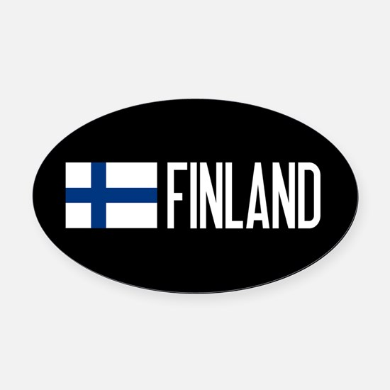 Finland: Finnish Flag & Finland Oval Car Magnet