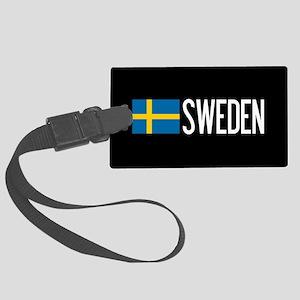 Sweden: Swedish Flag & Sweden Large Luggage Tag