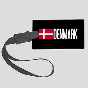Denmark: Danish Flag & Denmark Large Luggage Tag