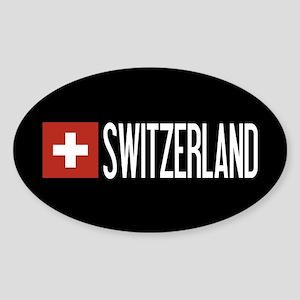 Switzerland: Swiss Flag & Switzerland Sticker