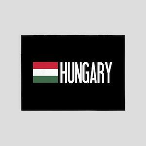 Hungary: Hungarian Flag & Hungary 5'x7'Area Rug