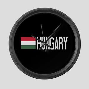 Hungary: Hungarian Flag & Hungary Large Wall Clock