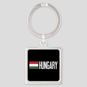 Hungary: Hungarian Flag & Hungary Square Keychain