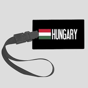 Hungary: Hungarian Flag & Hungary Luggage Tag