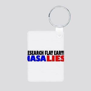 Research Flat Earth NASA LIES Keychains