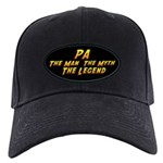 Pa The Legend Baseball Hat Black Cap