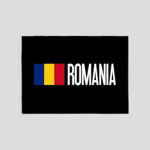 Romania: Romanian Flag & Romania 5'x7'Area Rug