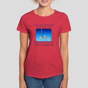 Pray For Fish Women's Dark T-Shirt