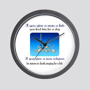 Pray For Fish Wall Clock