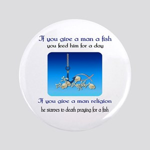 """Pray For Fish 3.5"""" Button"""