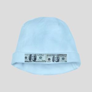 $100 dollar bills money baby hat