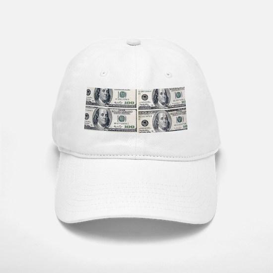 $100 dollar bills money Baseball Baseball Cap
