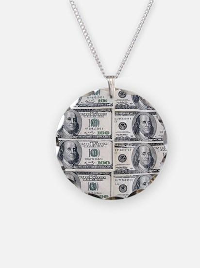 $100 dollar bills money Necklace
