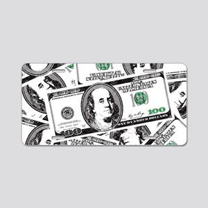 $100 dollars Aluminum License Plate