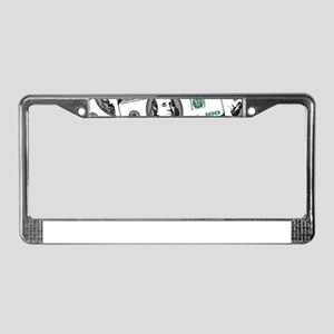 $100 dollars License Plate Frame