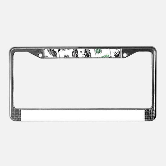$100 dollars License Plate Frame
