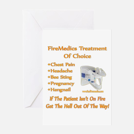 FireMedics Patient Care Greeting Card