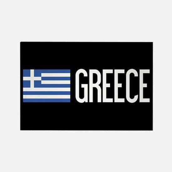 Greece: Greek Flag & Greece Rectangle Magnet