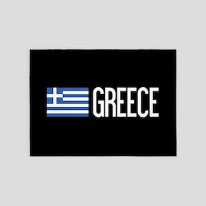 Greece: Greek Flag & Greece 5'x7'Area Rug