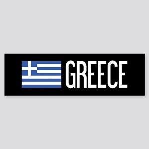 Greece: Greek Flag & Greece Sticker (Bumper)