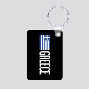 Greece: Greek Flag & Greec Aluminum Photo Keychain