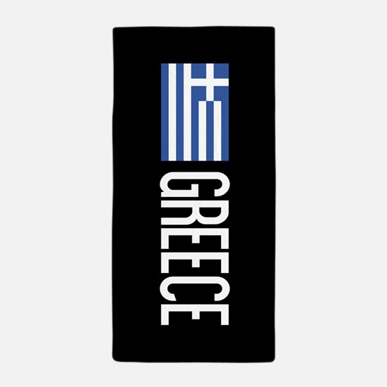 Greece: Greek Flag & Greece Beach Towel