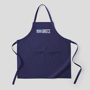 Greece: Greek Flag & Greece Apron (dark)