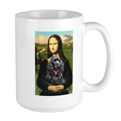 Mona's Black Cocker Spaniel Large Mug