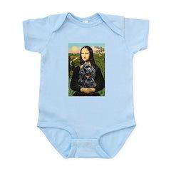 Mona's Black Cocker Spaniel Infant Bodysuit