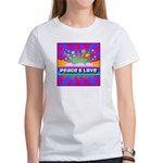 Psychedelic Peace & Love Women's T-Shirt
