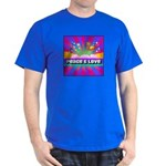 Psychedelic Peace & Love Dark T-Shirt
