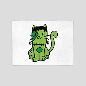 Frankenstein Cat 5'x7'Area Rug